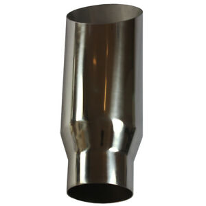 Details about Universal Chrome Stainless Steel Exhaust Tip 3