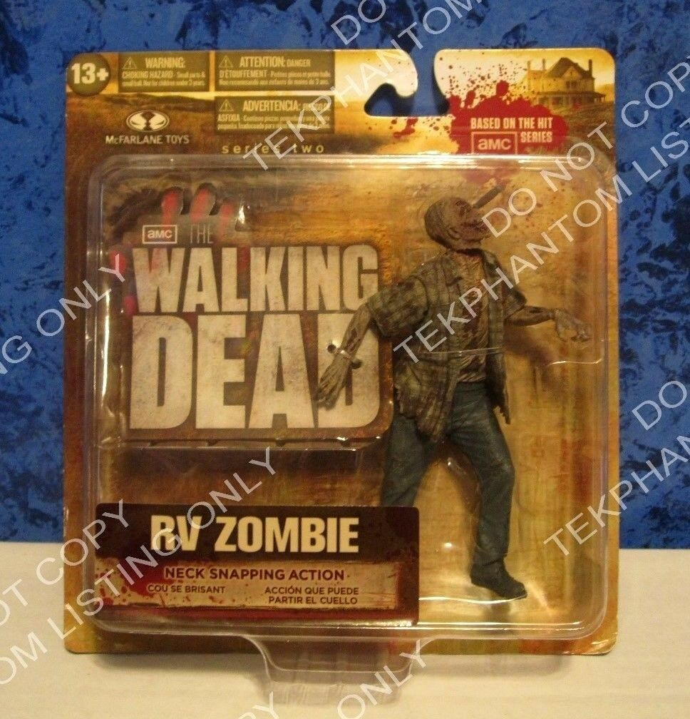 Tv - serie  walking dead 2 actionfigur große karte wohnmobil zombie - 13 + mcfarlane.
