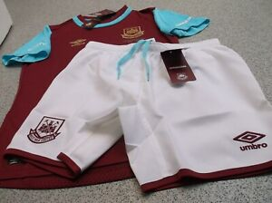 Umbro Childrens West Ham Home Kits