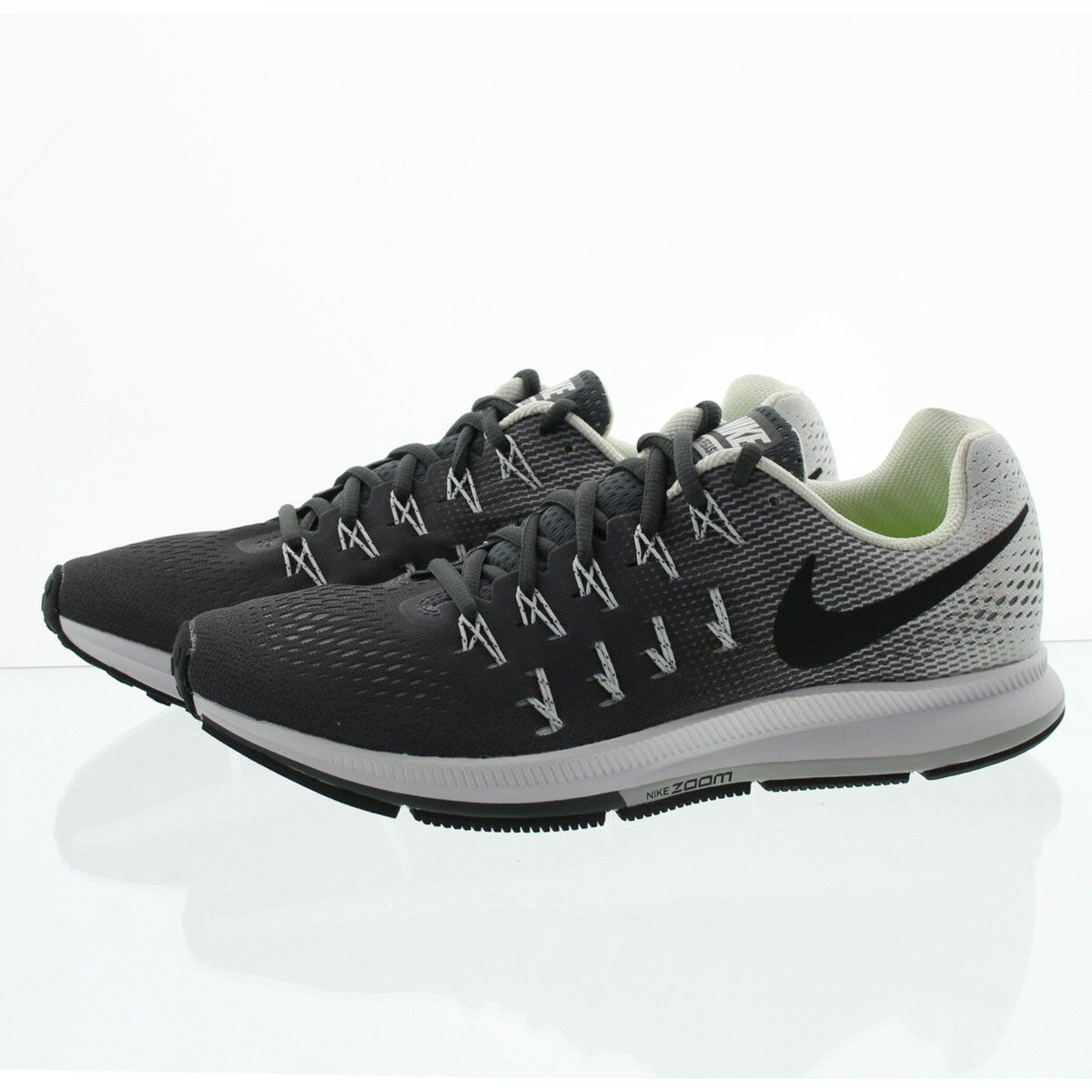 Nike Air Zoom Pegasus 33 Mens Running Shoes 9.5 Dark Grey White ... e6470ba6f