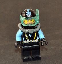 Lego Minifigure Aqua Raiders Aquaraiders Scuba Diver Complete Angler Ambush 7771