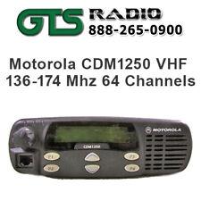 Refurbished Motorola Vhf Cdm1250 Two Way Radio Mobile Pilot Truck High Power 40w