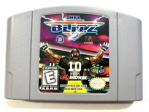 NFL-Blitz-ORIGINAL-Nintendo-64-N64-Game-Tested-Working-amp-Authentic