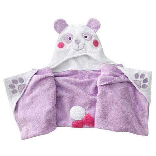 Amanda The Panda Purple Hooded Bath Wrap Beach Towel Throw 27x52 NWT $30
