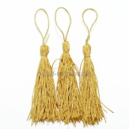20Pcs Chinese Traditional Imitation Silk Drapery Trimmings Tassels 10 Colors