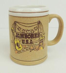 VTG-Jamboree-USA-Wheeling-W-Virginia-Stein-Mug-Cup-Stoneware-Souvenir-Japan