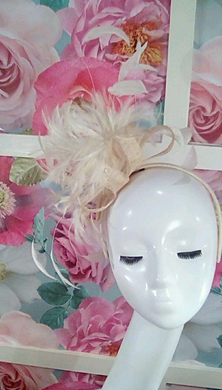 Wedding/races/occasion/formal fascinator headband - Petit Chapeau - Natural