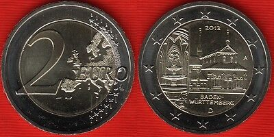 Baden Wuttemberg Commemorate A D F G J  UNC 2 Euro 2013 Germany