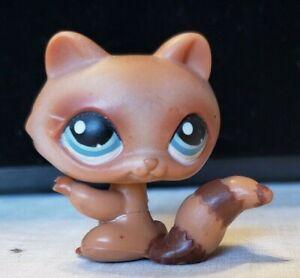 Littlest Pet Shop Raccoon Tan Brown 1682 Authentic Lps