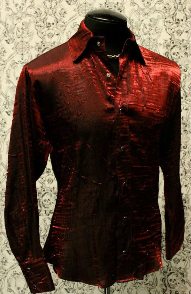SHRINE SHIMMER GOTHIC VAMPIRE RED STEAMPUNK POET PIRATE DANCE VICTORIAN SHIRT