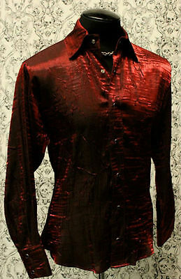 SHRINE SHIMMER GOTHIC VAMPIRE RED STEAMPUNK POET PIRATE DANCE VICTORIAN SHIRT