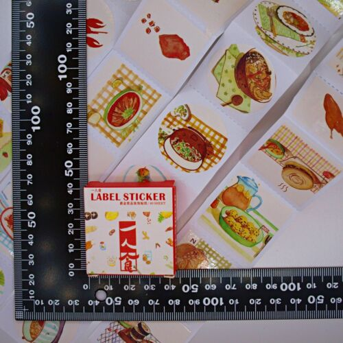 Hearty Foods Stickers — 40 stickers in box — Scrapbooking Craft Fun Cute