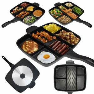Masterpan-Large-Non-Stick-Divided-Frying-Pan-Multi-Section-Breakfast-Square-Gril