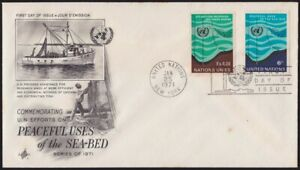 UNITED-NATIONS-1971-Peaceful-uses-of-Sea-Bed-FDC-D2791