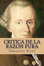 Critica de la Razon Pura by Immanuel Kant (2016, Paperback)