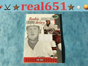 2003-Parkhurst-ERIC-STAAL-Rookie-Jersey-Game-Used-RC-Relic-Hurricanes-Wild
