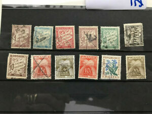 France, 12 used tax stamps, no duplicates see photo