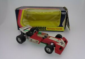 VINTAGE CORGI Diecast #153 SURTEES TS 9B F1 auto da corsa 1973 tasselli in Scatola