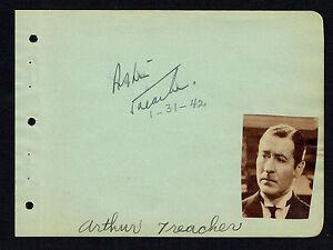Arthur Treacher (d. 1975) signed autograph 4x5 Album Page Actor: Heidi (1937)