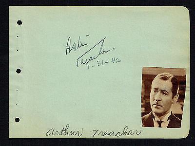 d.1975 Heidi Bequemes GefüHl Unterzeichnet Autogramm 4x5 Album Seite Actor Arthur Treacher