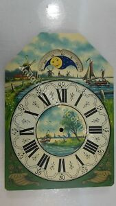HANDPAINTED-REPLACEMENT-DIAL-FOR-LARGE-DUTCH-FRIESIAN-TAIL-WALL-CLOCK-6