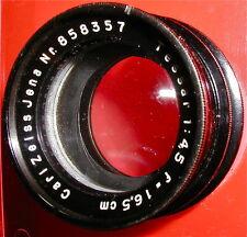 Carl Zeiss Jena Tessar 1:4.5 16.5cm lens,VI2, #858357, EX+ Glass, Free Ship USA