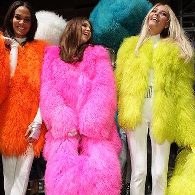 100/% Real Sheepskin Mongolian Lamb Fur Curly Coat Jacket Wholesale Price Paka T6