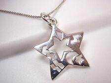 Ethnic Markings Star Pendant 925 Sterling Silver Corona Sun Jewelry
