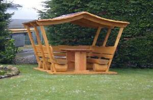 Top Pavillon.Überdachte Rundholz Grillsitzgruppe.   eBay SB39