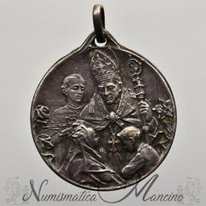 Medaglia-San-Gennaro-Ricordo-della-Cresima-1926-nominativa-in-argento