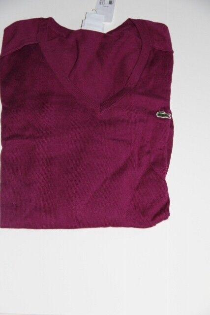 Nuevas Lacoste  hombres suéter púrpura Extra Grande XL 7  promociones de equipo