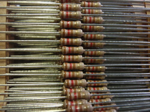 résistance 120 Ohm 1//4w couche de charbon nos d2x6mm 50x 24894 Rare
