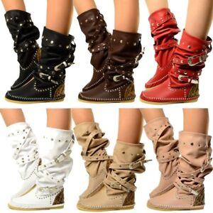 Details zu Damen Indianer Stiefel Ibiza Boots MADE IN ITALY Echtleder KIKKILINE Bohemian El