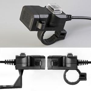 Universal-1A-2-1A-USB-12V-Motorrad-Lenker-Halterung-Ladegeraet-Charger-Schalter