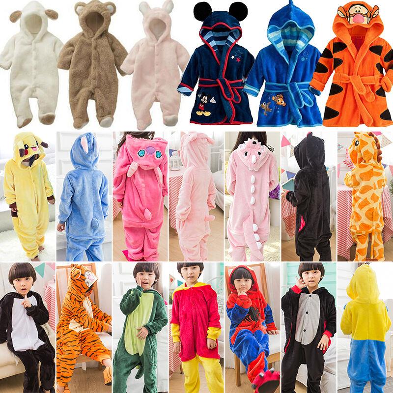 Adorable Pajamas Romper Kigurumi Cosplay Costume Animal Bathrobe For Baby & Toddlers & Kids
