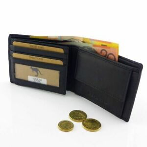 100-Genuine-Leather-Men-Wallet-with-RFID-Protection-Bifold-Anti-Theft-Security