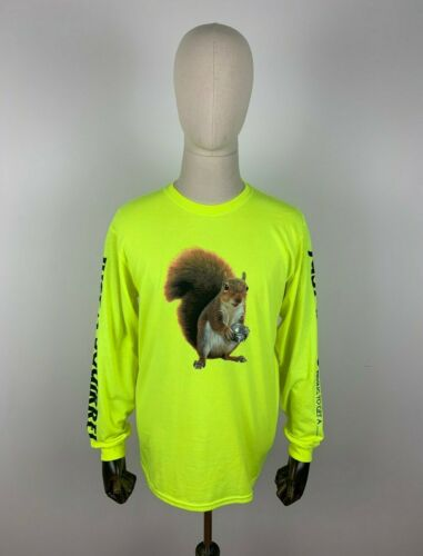 Skate Mental Squirrel à Manches Longues T-Shirt Thé Top Pull Sweat Néon Jaune M