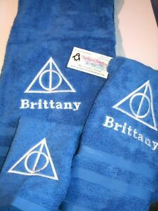 Harry Potter Solemnly Swear  Personalized 3 Piece Bath Towel Set Any Color