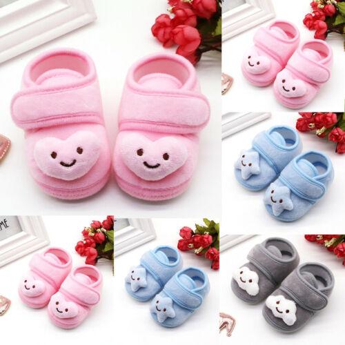 Infant Newborn Baby Girls Plush Stars Cloud Winter Boots Soft Sole Warm Shoes