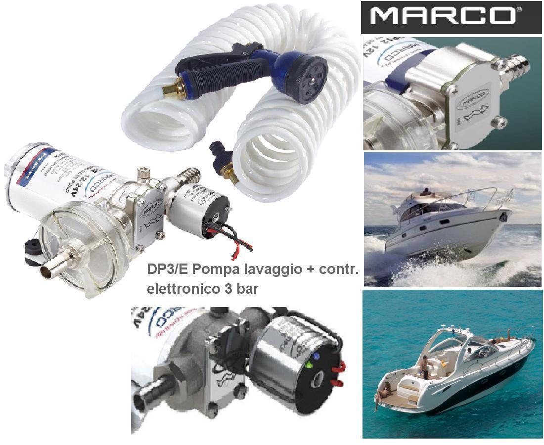 Marco DP9/und kit Pumpe Elektronik 4 Bar Dusche und waschen 12v 24V Stiefel Camper