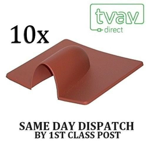 10 X Burst Brick Cable Cover Entry - Brown Lage Prijs