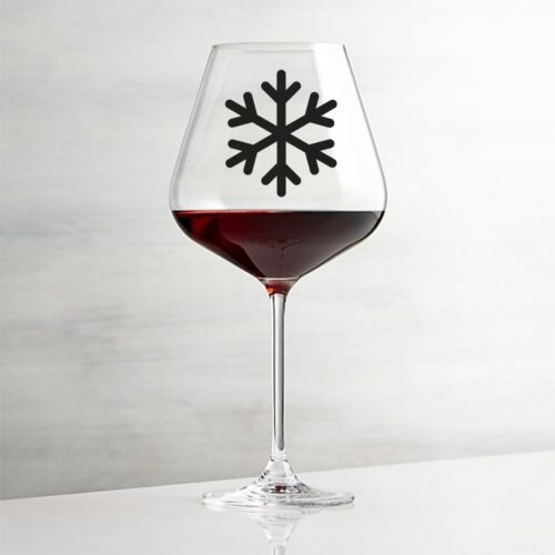WINE GLASS STICKER FOR CRAFT VINYL DECAL WINDOW 18 X SNOW FLAKE BOTTLE