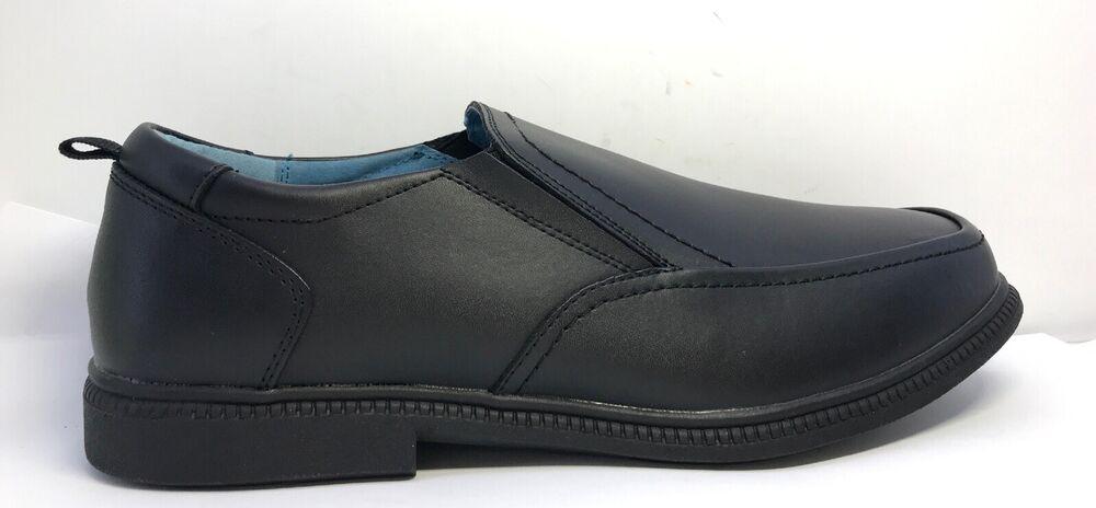 Y/233 * John Lewis Homme Noir Shoreditch à Enfiler Chaussures Uk Taille 8