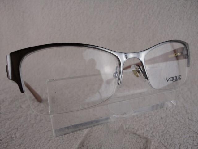 748b89ecee34 Vogue VO 3974 (548) Clear Brushed Gunmetal 51 X 18 135mm Eyeglass Frame