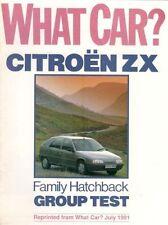 Citroen ZX 1.4 Avantage 1991 Road Test Reprint Brochure Fiat Tipo Rover 214 R19