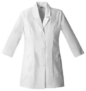 "Dickies 31"" Lab Coat 84407 DWHZ White Free Shipping"