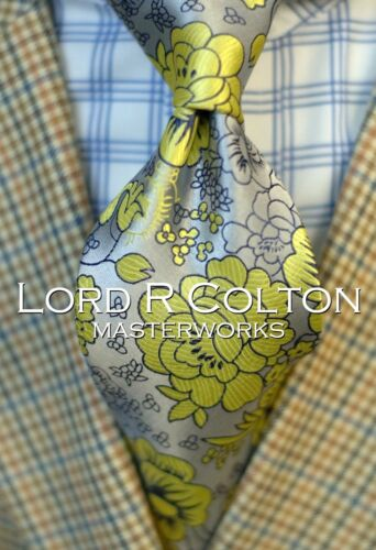 Limited Edition Northrop Silver Necktie New Lord R Colton Masterworks Tie