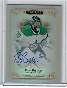 BEN-BISHOP-2019-20-UD-Stature-Hockey-Auto-Card-62-Dallas-Stars-SSP
