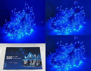 Image Is Loading New Indoor Outdoor Led String 300 Blue Fairy