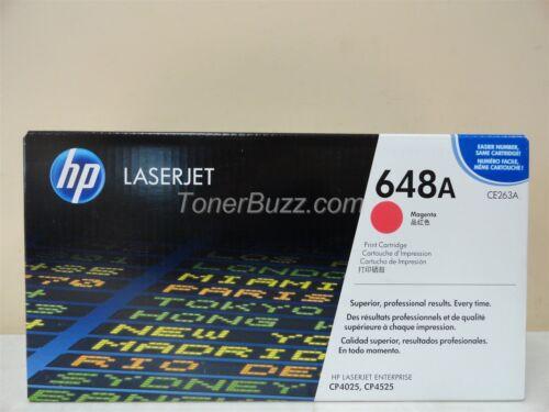 GENUINE HP CE263A 648A MAGENTA TONER CARTRIDGE LASER JET CP4025 CP4525